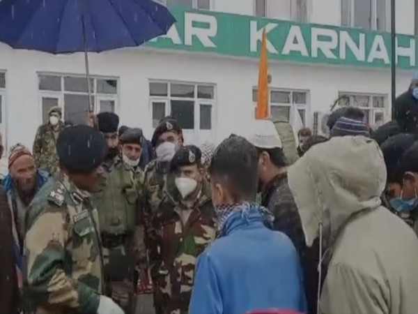 The medical camp organised by BSF in Kupwara of Jammu and Kashmir. (Photo/ANI)