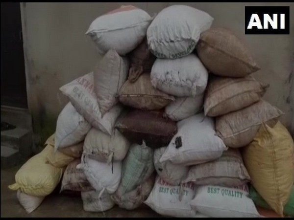 Visual of seized cannabis in Visakhapatnam.