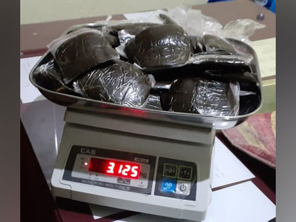 Police recovered 3.125 kg of cannabis from a person during patrolling in Manikaran yesterday