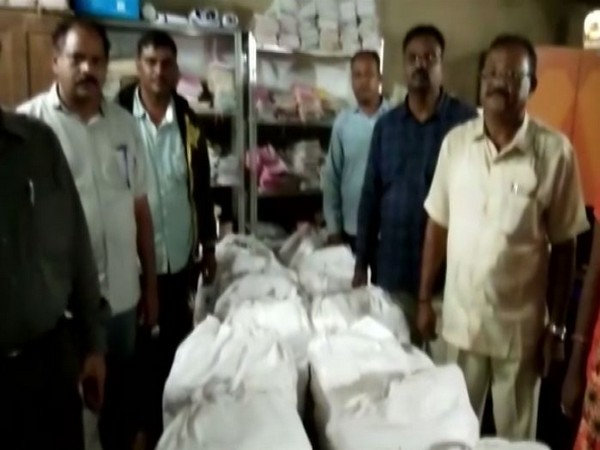 414 kg of cannabis seized by Visakhapatnam excise police on Wednesday. (Photo/ANI)
