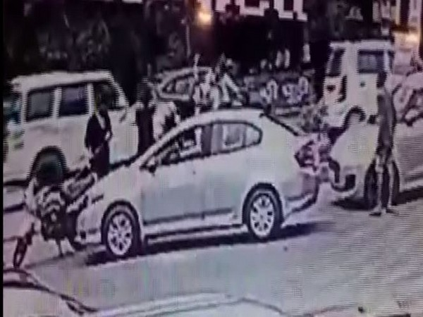 A screen grab taken from the CCTV footage (Photo/ANI)