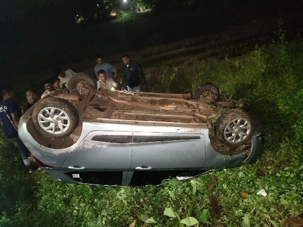 Car belonging to accused in Calangute, Goa. Photo/ANI