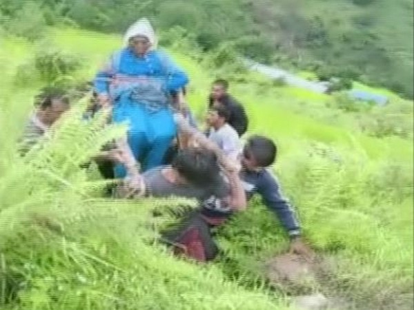 A woman being carried on a stretcher to a hospital. (Photo: ANI)