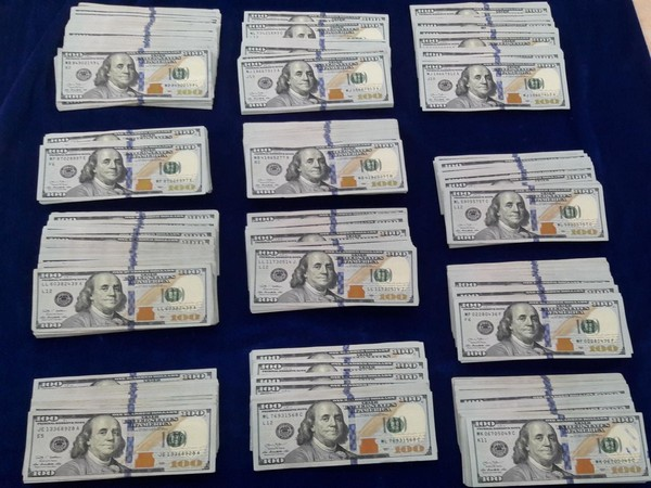 The currency seized with the three passengers at Chennai airport on Tuesday.