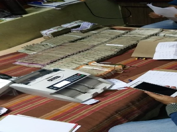 Cash recovered from house of Tehsildar of Ranga Reddy District in Telangana on Wednesday.