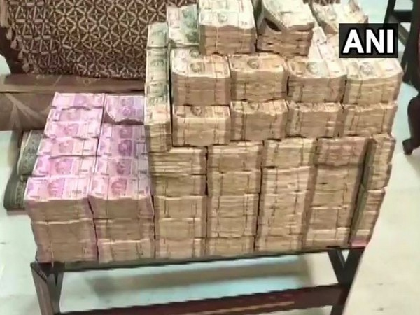 Income Tax Department on Monday seized Rs 44 crore in cash and 90 kgs of gold during a search conducted on properties of 'White Lotus'. (Photo/ANI)