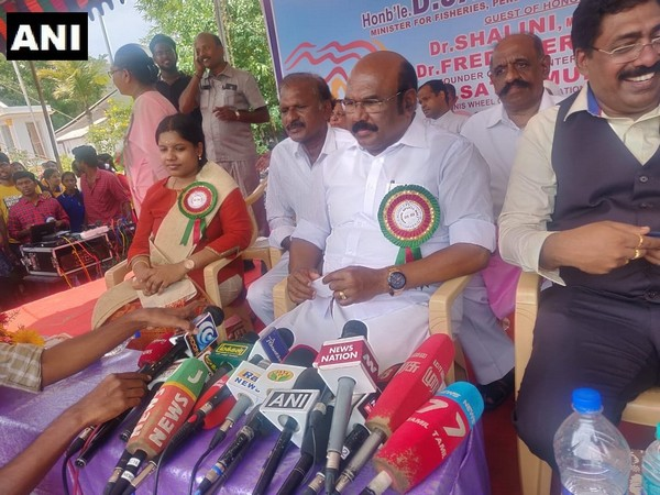 Tamil Nadu Fisheries Minister D Jayakumar address a press conference in Chennai on Friday.