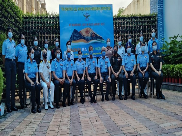 IAF organised a tri-services all-women mountaineering expedition to Mt. Manirang (21,625 ft).