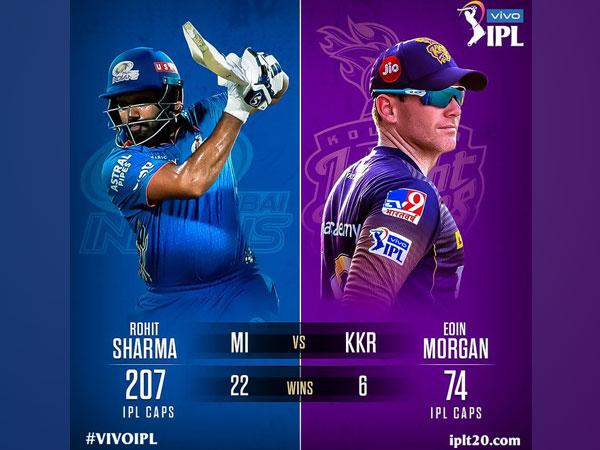 MI skipper Rohit Sharma and KKR captain Eoin Morgan (Photo/ IPL Twitter)