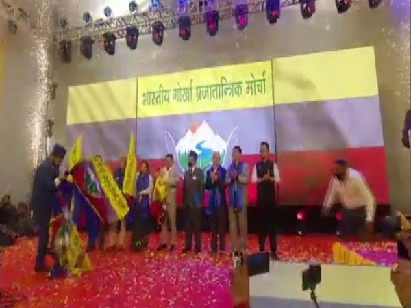 Ex-GJM leader Anit Thapa launches new party  in Darjeeling on Thursday.