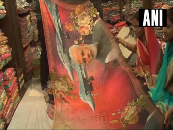 Modi aerial strike saree