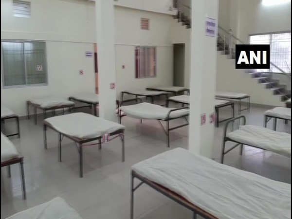 The press club members have arranged 30 beds for patients who are asymptomatic but need medical assistance. (Photo/ANI)