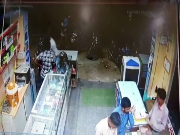 A grab from the CCTV