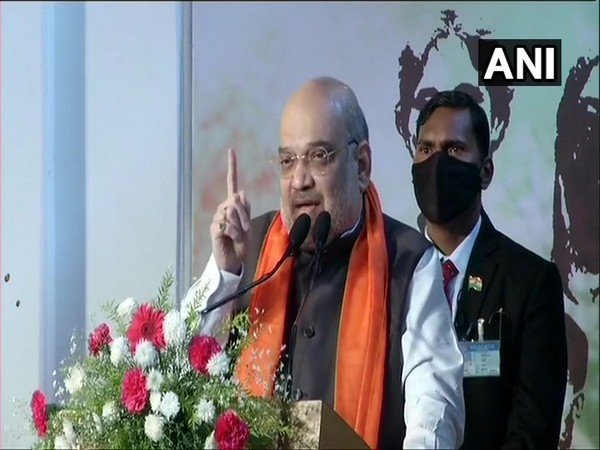 Union Home Minister Amit Shah during his visit to National Library. (Photo/ANI)