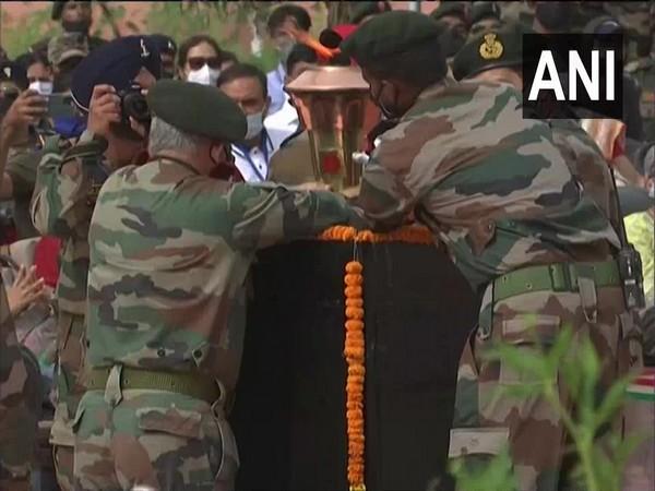 The Victory Flame Swarnim Vijay Mashaal marks India's victory in the 1971 war. (Photo/ANI)
