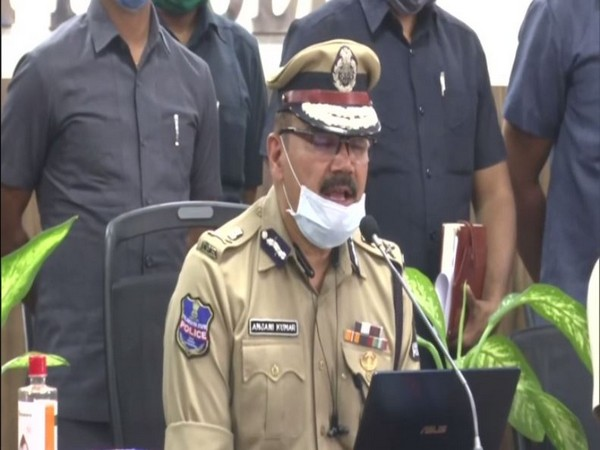 Anjani Kumar, Hyderabad City Police Commissioner during the press meet (Photo/ANI)