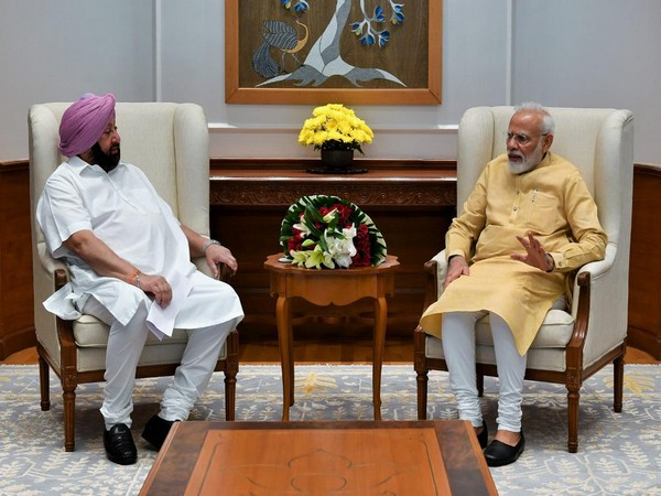 Punjab Chief Minister Captain Amarinder Singh met Prime Minister Narendra Modi on Thursday in New Delhi. Photo/ANI