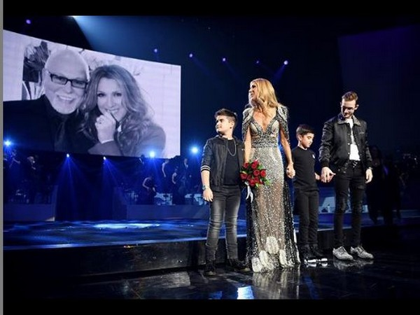 Celine Dion along with Nelson, Eddy and Rene-Charles, image courtesy, Instagram