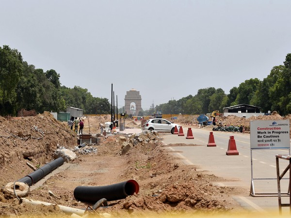 Visual of the construction site of the Central Vista Project in New Delhi. (Photo/ANI)