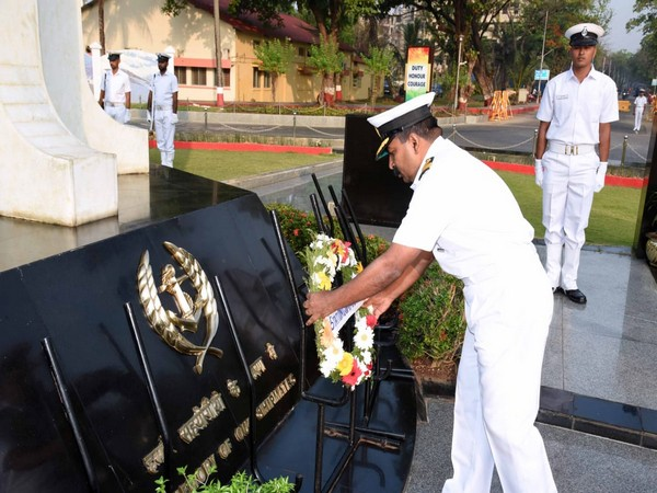 A visual from the wreath-laying ceremony at War Memorial on Tuesday. Photo/ANI