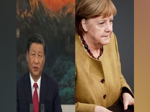Chinese President Xi Jinping and German Chancellor Angela Merkel