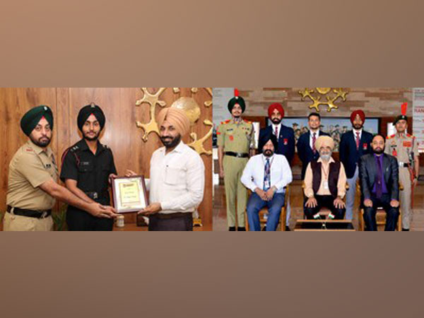 Some of Chandigarh University students who have been commissioned as officers in the Indian Armed Forces along with Chancellor and Pro-Chancellor.
