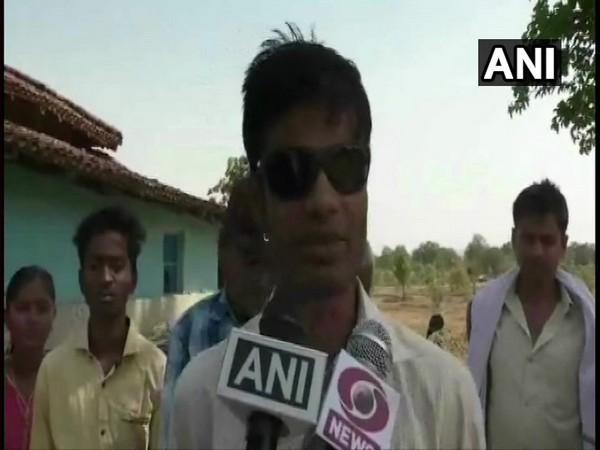 R Prajapati, talking to ANI at Balrampur in Chhattisgarh on Thursday