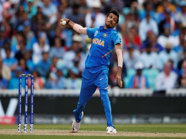 Indian spinner Yuzvendra Chahal while bowling