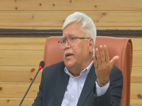 TRAI Chairman RS Sharma addresing press conference in New Delhi on Monday (photo/ANI)
