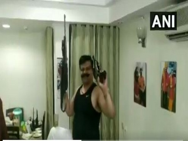 BJP MLA Pranav Singh Champion dances on Bollywood song at an undisclosed location [Photo/ANI]