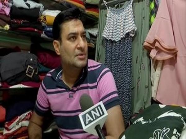 A shopkeeper in Patel market in Chandigarh.