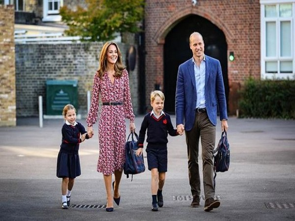 Princess Charlotte, Kate Middleton, Prince George and Prince William, Image courtesy: Instagram