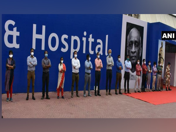 A visual from the Sardar Patel COVID Care Centre and Hospital in Chattarpur.