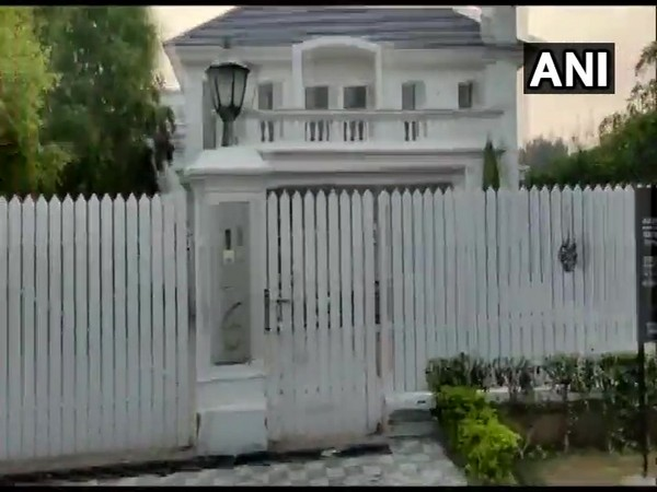 A visual of the property sealed by the ED in Panchkula, Haryana.