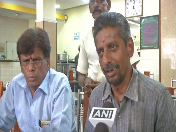 Narayana, manager of the Hotel Ananda in Chennai, while speaking to ANI. (Photo:ANI)