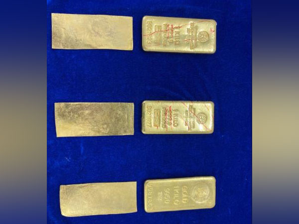 Gold worth Rs 1.33 crores was seized from an aircraft at Chennai Airport. Photo/ANI