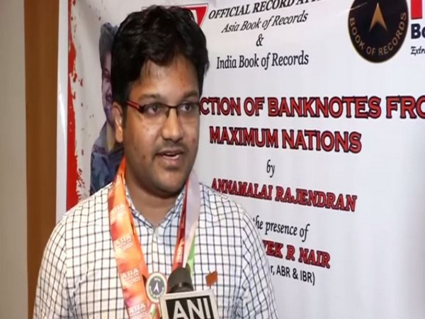 Annamalai Rajendran entered into Asia and India Book of Records for collection of banknotes from maximum nations