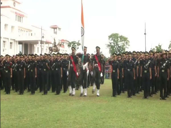 Passing out parade being held at the Officers Training Academy in Chennai on Saturday (Photo/ANI)