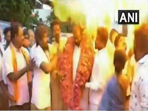 Gas balloons explode during PM Modi's birthday celebrations in Chennai [Photo/ANI]