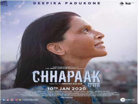 A poster of film 'Chhapaak' (Image courtesy: Instagram)