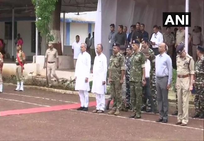 Chhattisgarh Chief Minister Bhupesh Baghel at wreath-laying ceremony