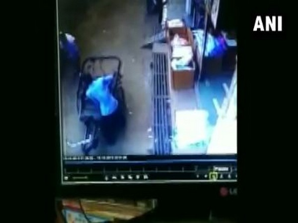 CCTV footage of child falling from a 35 feet high building. Photo/ANI