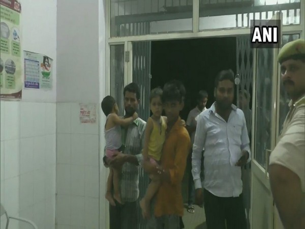 Over 12 children were admitted to hospital last night after they consumed milk being distributed at a temple in Indergarhi