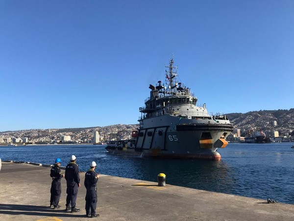 Ships built in India reaches Chile's Valparaiso Harbour (Photo Credit: Twitter/ India in Chile)