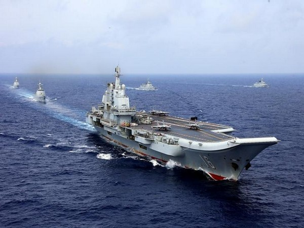 China's aircraft carrier sets sails through Taiwan Strait