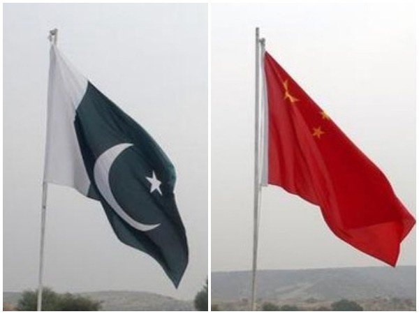Pakistan flag, China flag