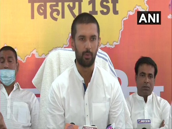 Lok Janshakti Party (LJP) chief Chirag Paswan (File Photo/ANI)