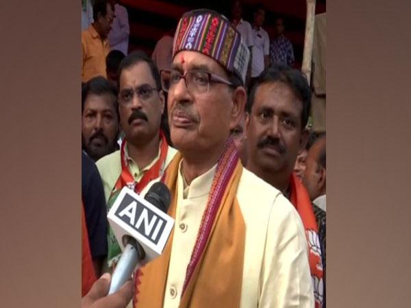 Shivraj Singh Chouhan talking to ANI at Bhubaneswar on Saturday