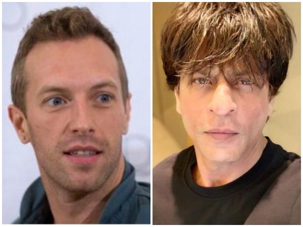 Chris Martin and Shahrukh Khan