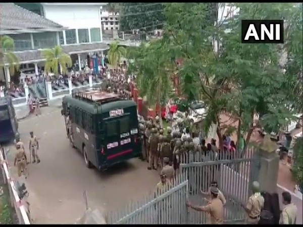 Jacobite supporters arrested for occupying Piravom Church [Photo/ANI]